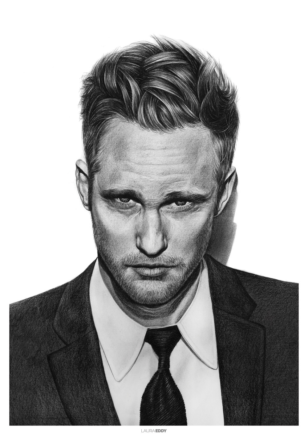 Alexander Skarsgard Pencil Drawing